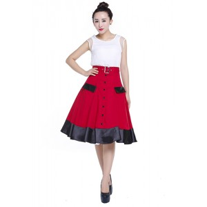 Chic Star 50's Red Circle Skirt