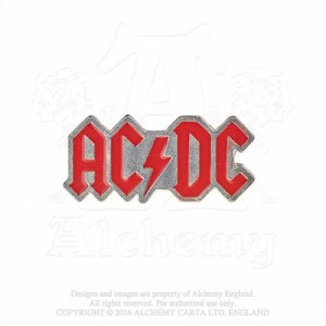 AC/DC enamelled logo Badge