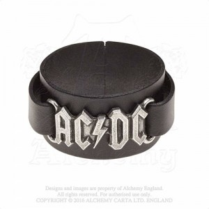 AC/DC logo  Leather Wriststraps