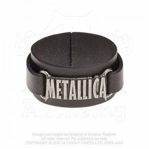 Metallica logo  Leather Wriststraps