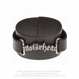 Motorhead logo Leather Wriststraps