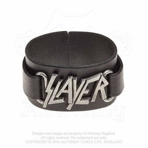 Slayer logo  Leather Wriststraps