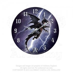 Lightning Dragon wall clock