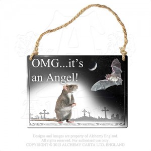 Omg...It's An Angel metal sign