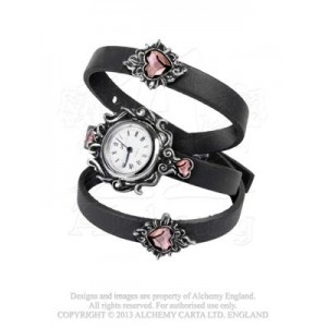 Heartfelt crystal heart watch