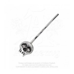 Skully Hair Grip - Silver