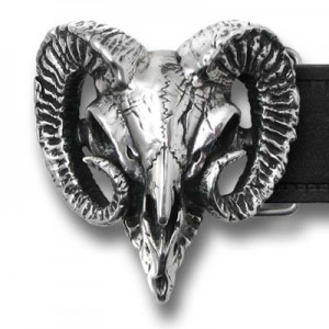 Ram's Skull (Belt Buckle) metalwear