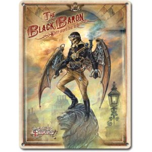 The Black Baron (Metal Plaque)