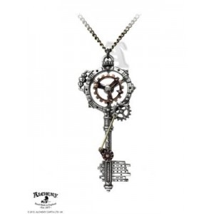 Septagramic Coercion Gearwheel Key Pendant