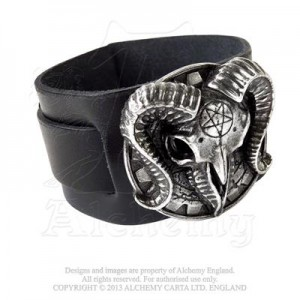 Gears Of Aiwass leather wristband