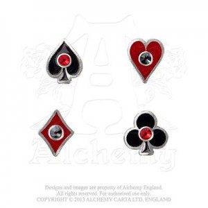 Aces Up ear studs