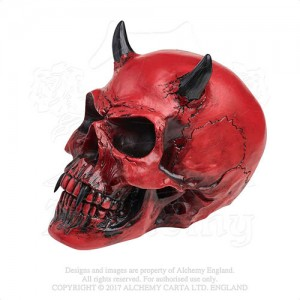 Crimson Demon Skull