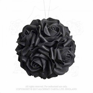 Black Rose Decorative Hanging Ball shades of Alchemy