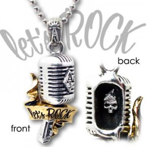 Let's Rock n Roll mic pendant