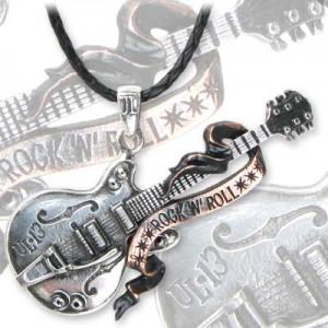 Steel Guitar rock n roll pendant