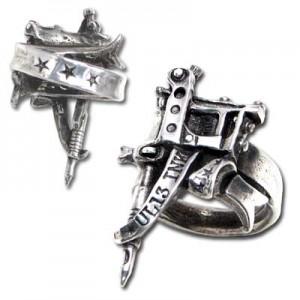 Needle Gun TATTTOO GUN RING
