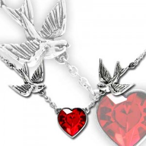 Swallow heart Pendant