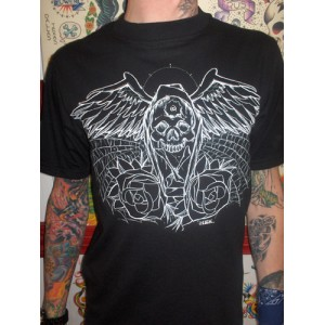 Black Market Company Coffin wing mens tee