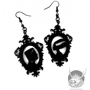 Monster and the Bride Cameo Earrings