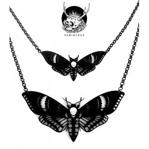 Double Deaths Head Moth Necklace