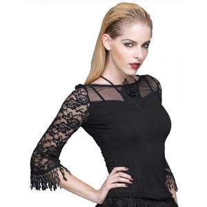 Devil Fashion Gothic Tabitha Top