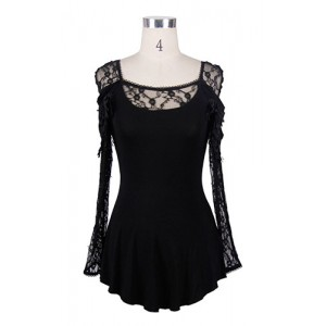Devil Fashion Gothic Dhalia Top