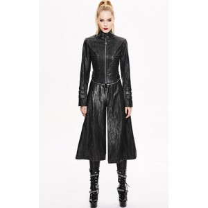 Devil Fashion Faux Leather Underworld Coat