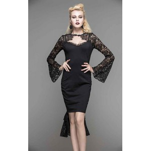 Devil Fashion Pandora Pencil Midi Dress