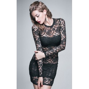 Devil Fashion Black Lace Belladonna Dress