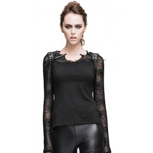 Devil Fashion Spider Web Sleeve Dusk Top