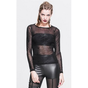 Devil Fashion Spider Web Malice Top