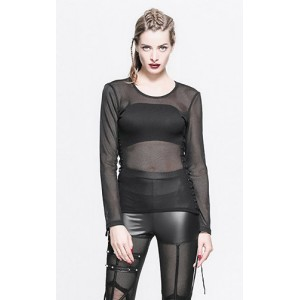 Devil Fashion Midnight Net Top