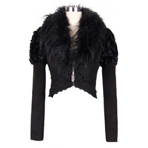Devil Fashion Gothic Raven Cropped Jacket