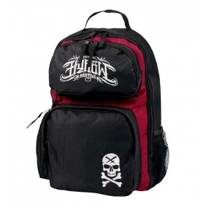 SKULL BACK PACK 4 Black and Red