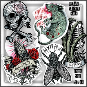 HyRaw Rock N Roll Sticker Pack