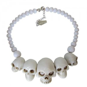 Kreepsville 666 White Skull Collection Necklace