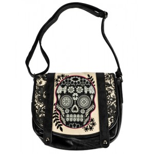Loungefly Butterfly Sugar Skull Cross Body Bag