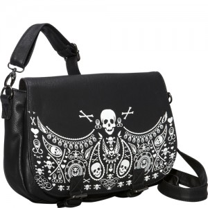 Loungefly Bandana Skull Cross Body Bag