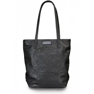 Loungefly Laser Etched Sugar Skull Tote Bag