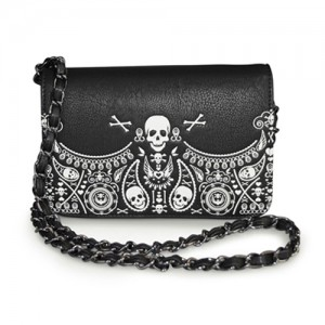 Bandana skull chain bag from Loungefly