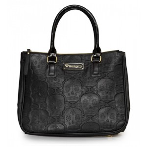 Loungefly Embossed Repeat Sugar Skulls Handbag