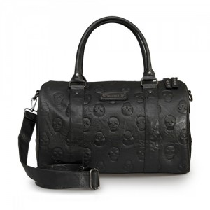 Loungefly Embossed Skulls Large Duffle Bag