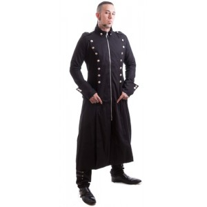 Necessary Evil Mens Gothic Thor Military Coat