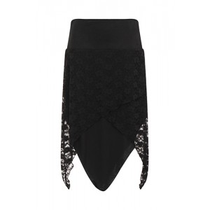 Necessary Evil Gothic Tana Lace Skirt Skirt