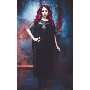 Necessary Evil Hecate Mesh Poncho Dress