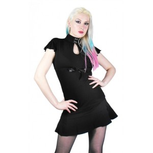 Necessary Evil Lilith Empire Line Top with Bow