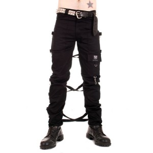 Black Cotton USA Bondage Pants