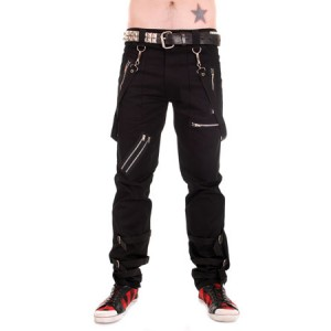 Black Bondage Trousers with Straps