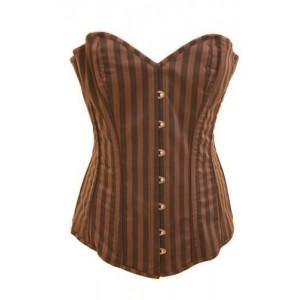 Compass strip corset top