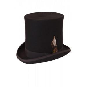 LUXURY WOOL HIGH TOP HAT (8 INCH)